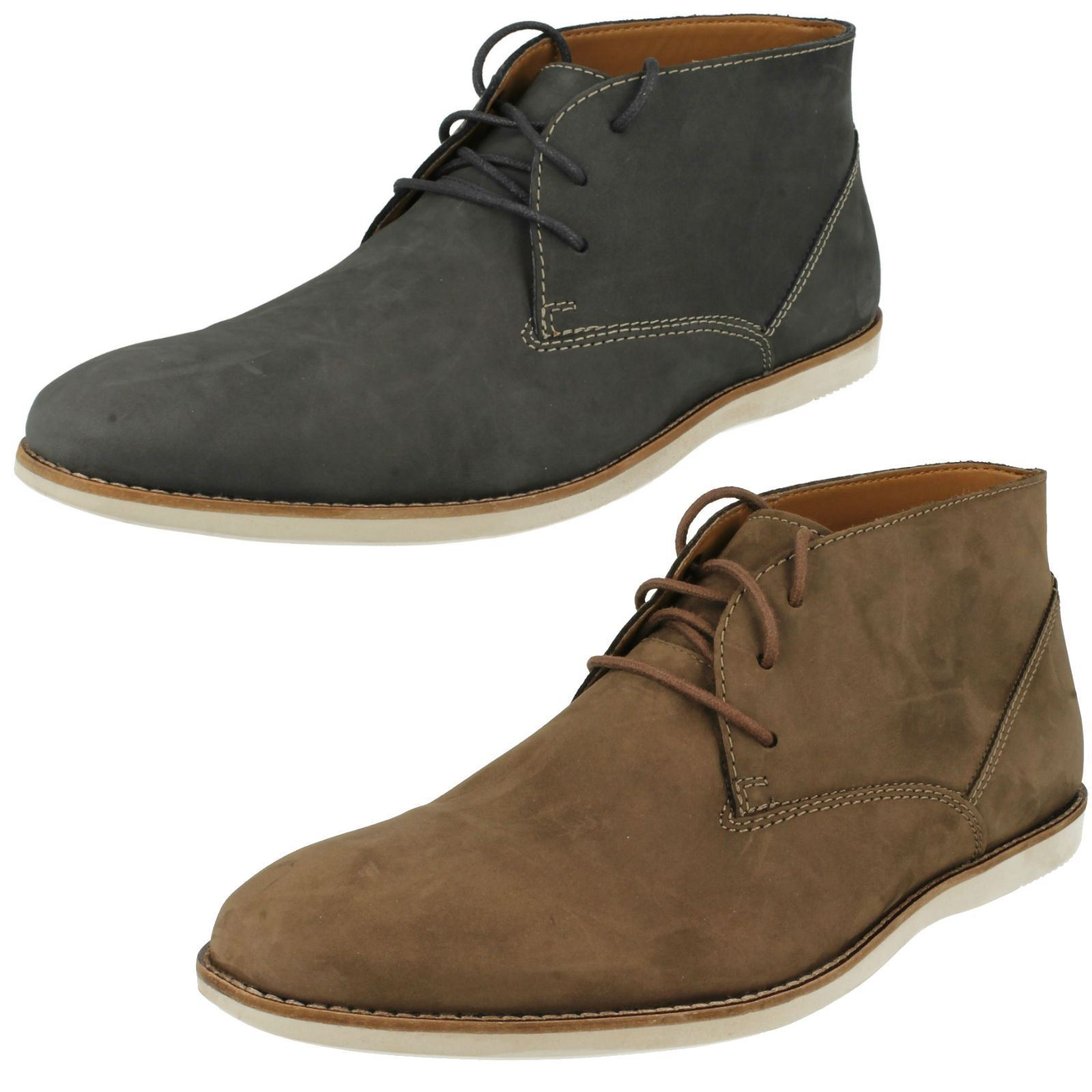 Mens Clarks Ankle Boots 'Franson Top'