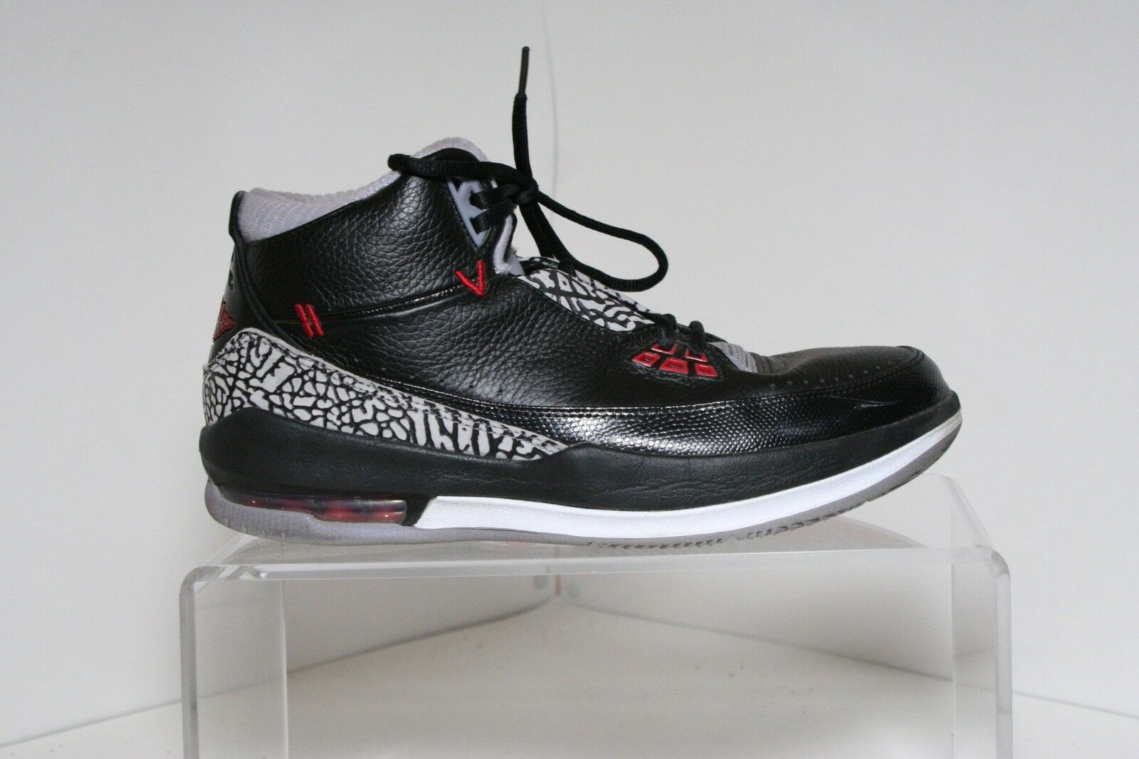 Nike Air Jordan 2.5 Team Sneakers 08' Hipster Multi Cement Men's 10.5 Bred