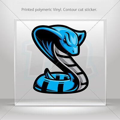 Decals Stickers Blue Cobra Helmet Atv Bike polymeric vinyl Garage st5 W9X54