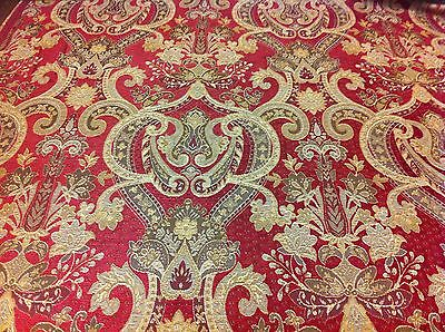 PORTER and STONE ,Grafton Red, Luxury Chenille ,2 metres for Charlotte