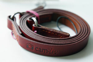 Tan-Leather-camera-strap-w-ring-amp-string-loop-connection-CAM2280-UK-Stock