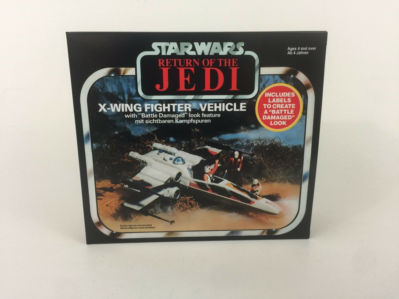 Replacement vintage star star star wars redj palitoy battle damaged x-wing box + inserts 350630