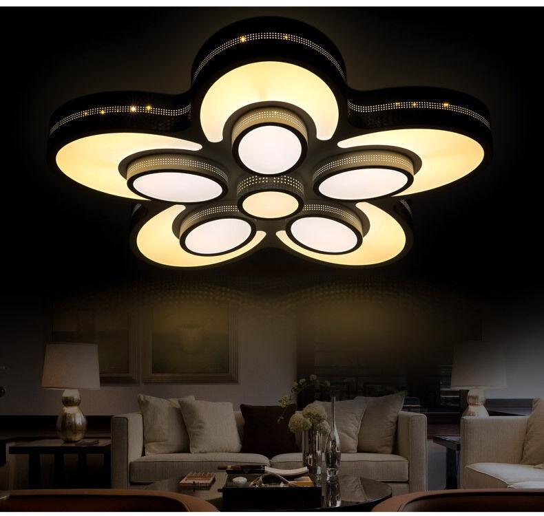 2050 LED Deckenlampe Fernbedienung Helligkeit stufenweise einstellbar A+ Sparsam