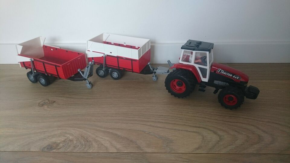 Traktor m vogn