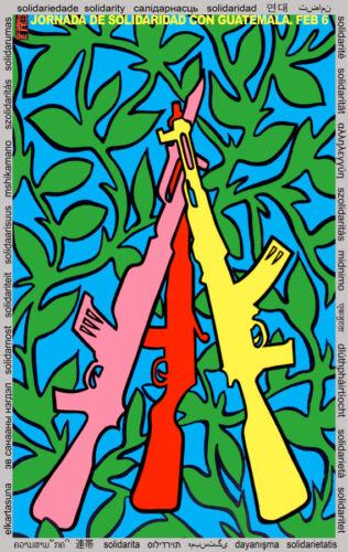 design Político Decoração.q896 Guatemala Pôster de Solidariedade qualidade de impressão armas