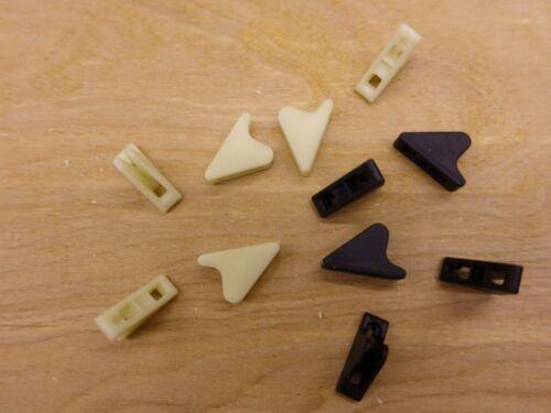 10 CamCleat LineLoks; Hilleberg-like; for 1-3mm; black or glow-in-dark CL266