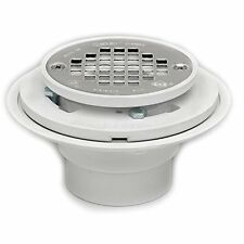 Oatey 42213 PVC Drain with Stainless Steel Strainer for Tile Shower Bases, 2-Inc