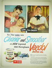 Vintage 1948 VEEDOL FLYING A MOTOR OIL Large Full-Page Magazine Print Ad