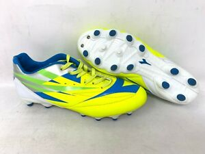 NEW-Diadora-Men-039-s-Verona-2-Lace-Up-Soccer-Cleats-Yellow-Blue-Lime-A24-z