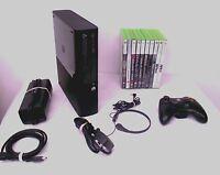 Microsoft Xbox 360 S 250 GB Matte Black Console (PAL) + 10 Top Games