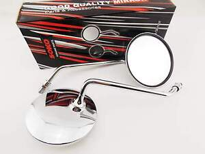 SUZUKI-GN250-81-08-CHROME-ROUND-SOKO-REAR-VIEW-MIRRORS