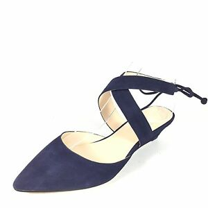 020f25b32a9 Details about Nine West Elira Women s Size 7 M Navy Suede Wedge Shoes.
