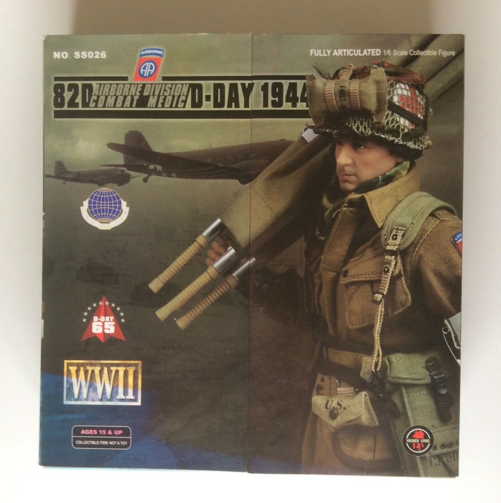 Soldier Story 1 6 WW2 US 82nd Airborne Combat Medic Normandy 1944 Boxed figure