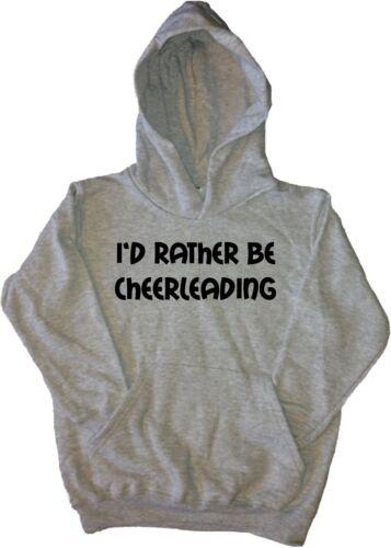 I/'d Rather Be Cheerleading Kids Hoodie Sweatshirt