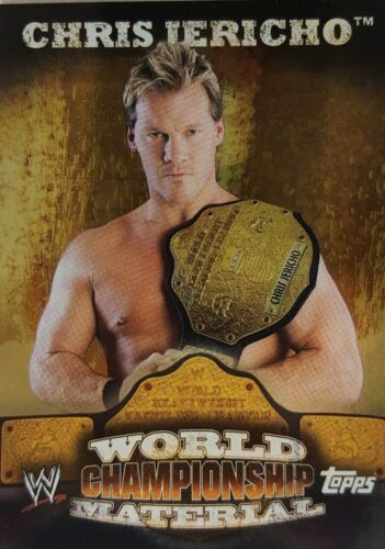 WWE 2010 WORLD CHAMPIONSHIP MATERIAL  CARD Singles COMPLETE YOUR SET     W