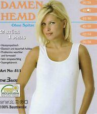 oder 16 Damen Unterhemden weiß 100 Bw 4 glatt T-Shirt Top Gr 36//38-56//58 8