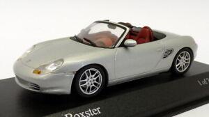 Minichamps-Escala-1-43-de-400-062030-a-2002-Porsche-Boxter-valor-Plata-Metalizado