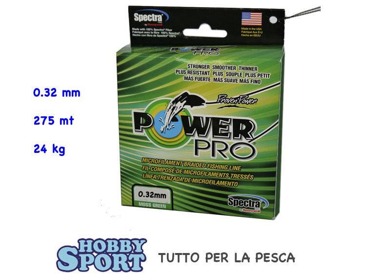 energia PRO FILO TRECCIATO 0.32 mm MOSS verde  275 mt  ORIGINALE USA
