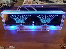 Power Amplifier Dual Analog Panel VU Meter Audio Level dB Meter With BackLit