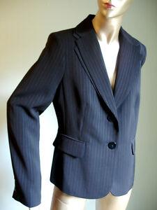 Jones-New-York-Suit-Black-Pin-Striped-Double-Lapel-Blazer-Jacket-Sz-8