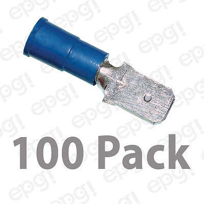 100 Vinyl Piggyback Quick Disconnect Terminal 16-14 .250 1//4 BLUE MADE IN USA