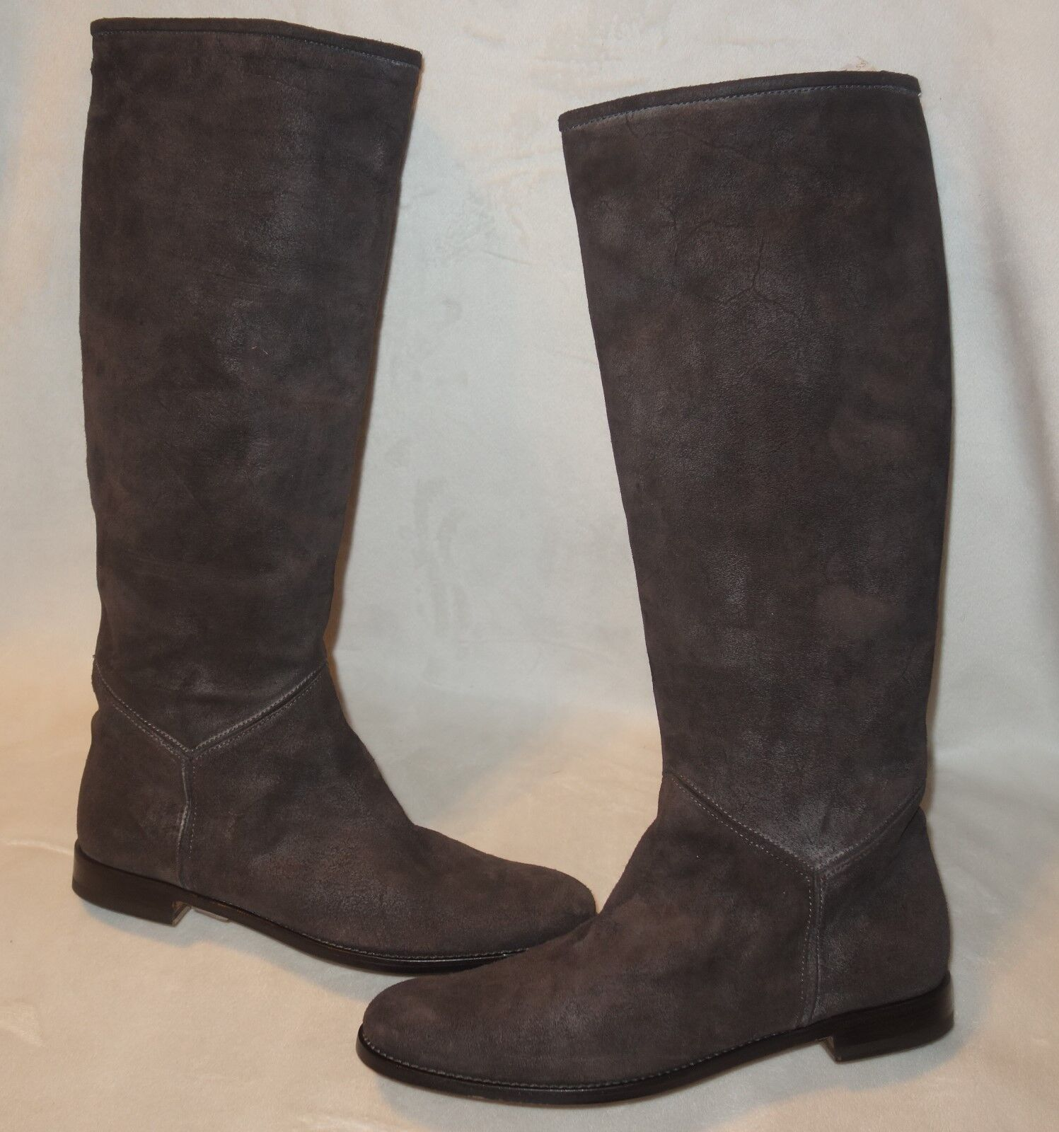 Pollini boots riding knee-high 100% pelle boots sz 40 made in italy