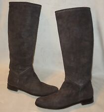 Pollini boots riding knee-high 100% leather boots sz 40 made in italy