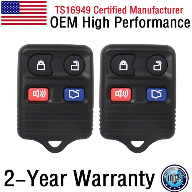 Set 2 Replacement Remote Fob Transmitter Clicker Control Alarm Keyless Entry Key