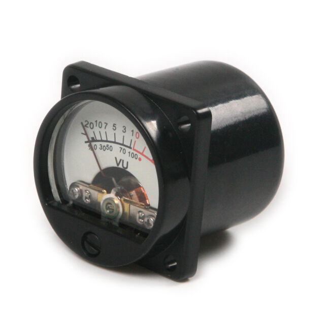 2pcs DC/AC 6V -12V Panel VU Meter tester Warm Back Light  630 Ohm 35 x 35mm L*W