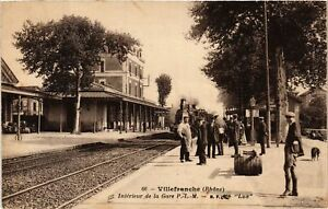 CPA AK VILLEFRANCHE-sur-SAONE - Intérieur de la Gare P.-L.-M. (635853)