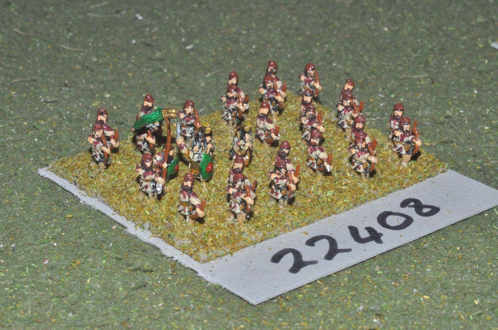10mm Roman era   roman - late archers 30 figs - inf (22408)