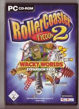 Roller Coaster RollerCoaster Tycoon 2 Wacky Worlds expansion pack Addon PC juego