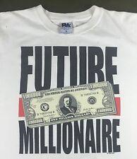True Vintage 90s Future Millionaire One In A Million Sam's Town Money T-Shirt L