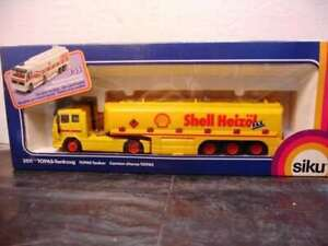 WOW-EXTREMELY-RARE-3511-Mercedes-SK-Tankwagen-Shell-Tanker-Yellow-1-55-Siku
