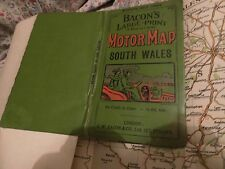 SOUTH WALES:PURE MOTOR MAP:ANTIQUE,VERY FIRST?:G.W. BACON:FINE VETERAN CAR COVER