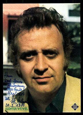 Autogramme & Autographen Günter Wewel Autogrammkarte Original Signiert ## Bc 54222 Preisnachlass