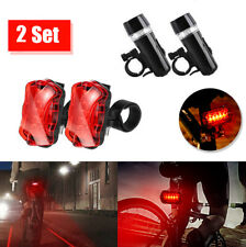 2 Modes Waterproof 5 LED Bicycle Light Front Lamp Torch Bike Flashlight $S1