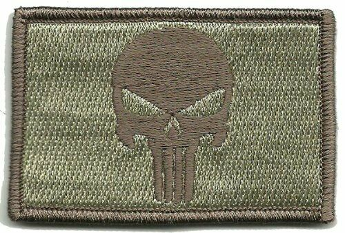 VELCRO BRAND Hook Fastener Compatible Patch Skull ATACS 3x2/""