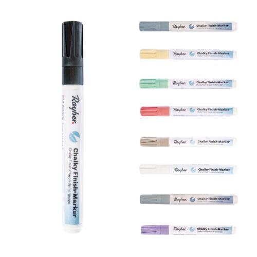 Rayher Chalky Finish Marker Kreidestift matt Acryltinte 2-4mm Spitze Farbwahl