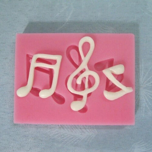 Musical Note Silicone Fondant Mold Cake Sugarcraft Decorating Chocolate Mould HC
