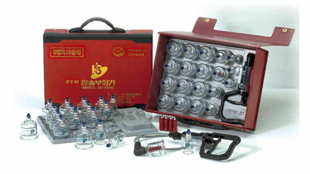 Genuine Hansol cupping set19 cup for slimming, vacuum massage Acupuncture buhang