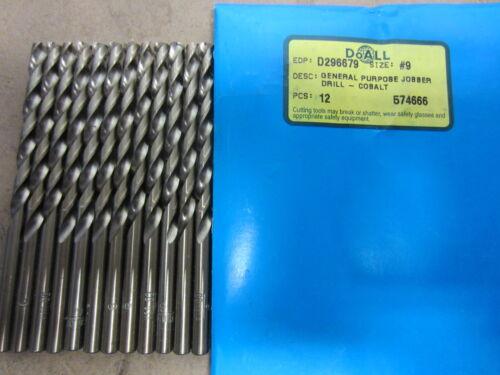 5 GREENFIELD #9 Bright Jobber Length HSCo Twist Drill Bits M42 HSS Cobalt USA