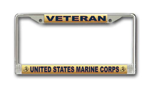 American Made Veteran Approved! US Marine Corps Veteran License Plate Frame