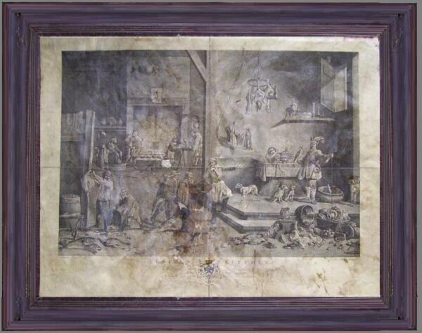 "Abile Antica 1777 Acquaforte Da ""cucina Medioevale"" David Teniers Inc. John Boydell"