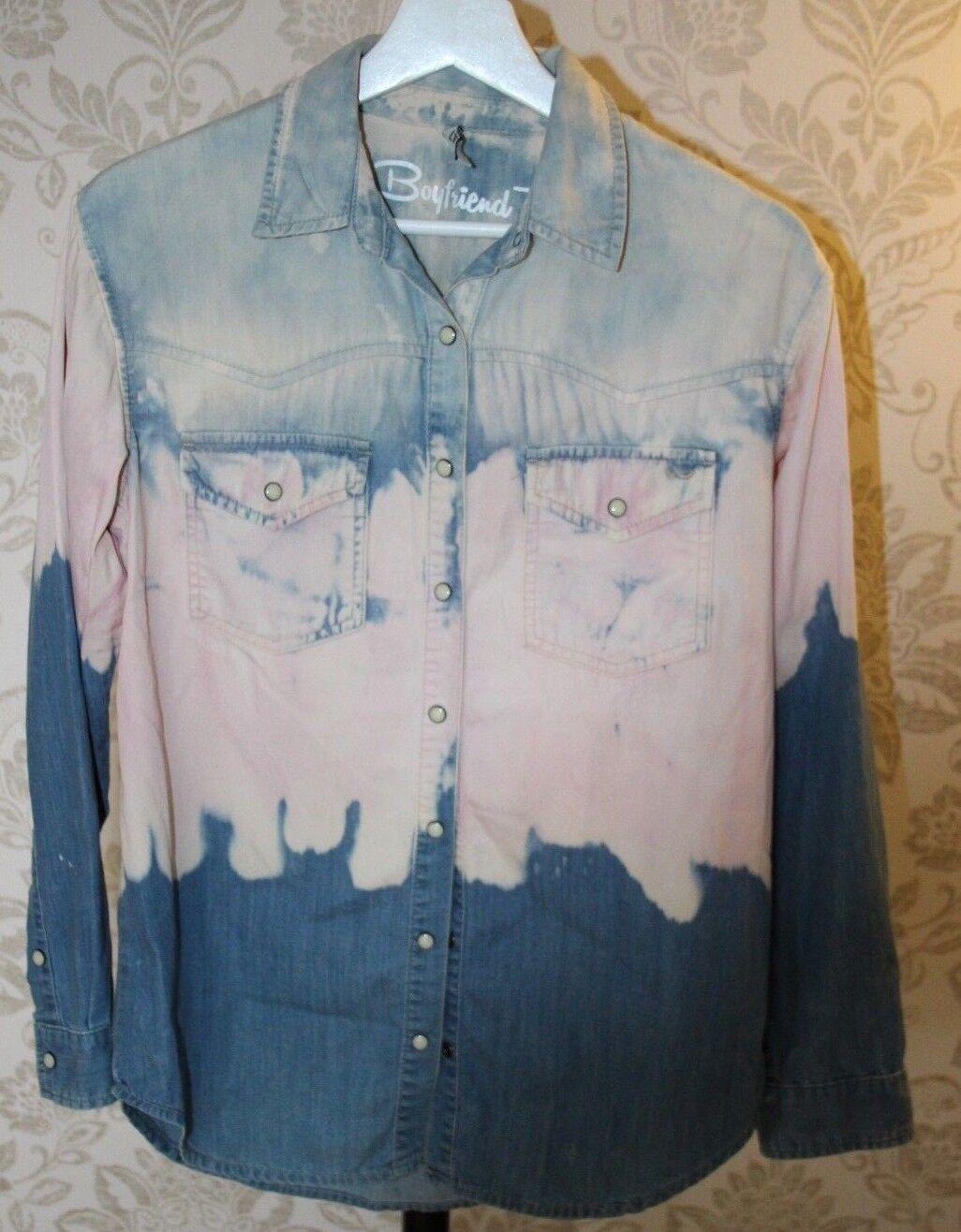 2 Teile Jeans Outfit *** Batik Jeansbluse v. LTB + Jeggins *** Größe S