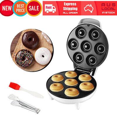 Details about  Electric Donut Maker Machine Doughnut Waffle Non Stick Pancake Breakfast Baking