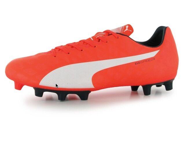 Puma Evo Speed 5 Hombre Tacos Fútbol Botín orange whiteo Tamaño 44,5; Gb 10 Neu