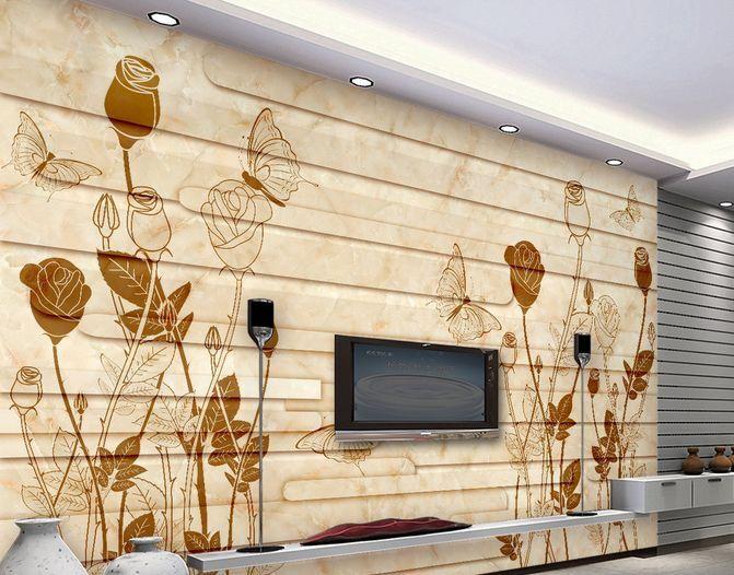 3D Fiori a muro 14 Parete Murale Carta da parati immagine sfondo muro stampa
