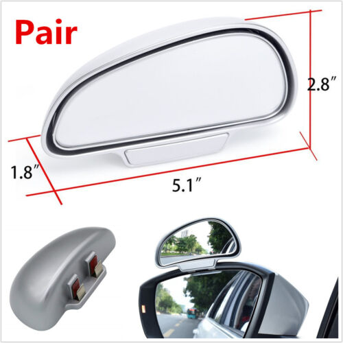 Pair Left+Right Adjustable Wide Angle Blind Spot Snap Way Car Rear View Mirrors