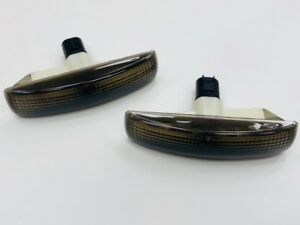 Land-Rover-Freelander-2-Range-Rover-Sport-Smoked-Side-Repeaters-amp-Chrome-Bulbs